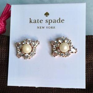 🆕 Kate ♠️ Spade Crystal and Pearl Stud Earrings